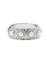 Pearl Beaded Textured Bracelet