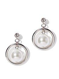 Pearl & Chain Drop Earring