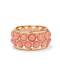 Pink Faceted Beads Stretch Bracelet