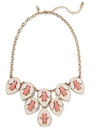 Pink Geo Floral Necklace