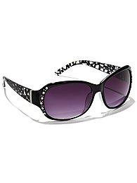 Rhinestone & Metallic Foil Sunglasses