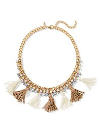 Rope-Chain Tassels Necklace