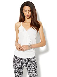 Ruffle-Front Camisole