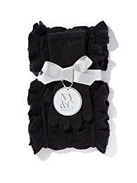 Ruffled Scarf & Glove Gift Set