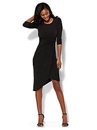 Shirred Wrap Dress