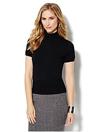 Short-Sleeve Turtleneck