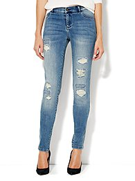 Soho Jeans Destroyed Legging - Rip & Tear Blue - Average