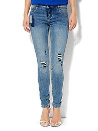 Soho Jeans Destroyed Legging - Rip & Tear Blue - Average