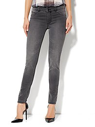 Soho Jeans High-Waist Legging - Cavern Grey Wash