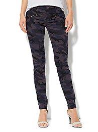 Soho Jeans Legging  - Navy Camo - Zip-Accent