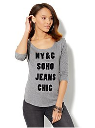 Soho Jeans Logo Tee-Shirt - Grey