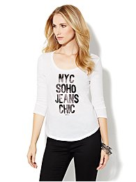 Soho Jeans Logo Tee-Shirt