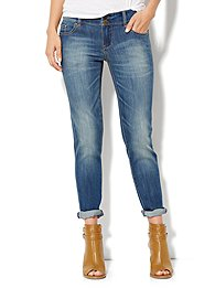 Soho Jeans New York Boyfriend - Burning Blue Wash