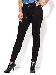 Soho Jeans - Studded High-Waist Legging - Black