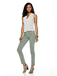 Soho Jeans Zip-Front Ankle Legging