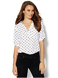 Soho Soft Shirt - One-Pocket Popover - Polka Dot