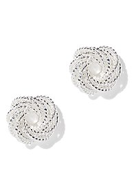 Sparkle Knotted Circle Earring