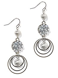 Triple-Drop Beads Earring