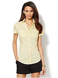Two-Pocket Cap-Sleeve Shirt