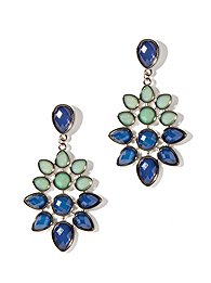 Two-Tone Floral Drop Earrings