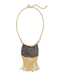 Two-Tone Fringe Necklace