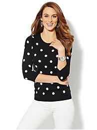 Waverly Crewneck Sweater - Lurex Dots