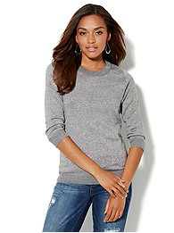 Waverly Lurex Crewneck Sweater