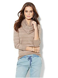 Waverly V-Neck Sweater - Shimmer Striped