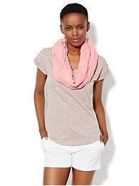 Welt-Pocket Cotton Tee Shirt - Print
