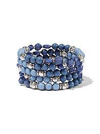 beaded-silvertone-five-row-bracelet-