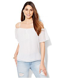 chiffon-cold-shoulder-blouse-