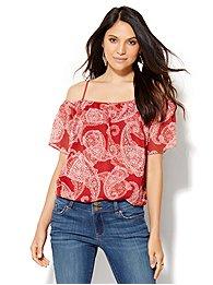 chiffon-overlay-cold-shoulder-blouse-paisley-print-