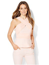 crossover-strapless-peplum-top-pink-