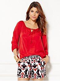 eva-mendes-collection-bridgette-peasant-blouse-