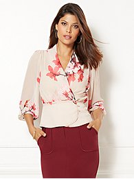 eva-mendes-collection-charlotte-3/4-sleeve-blouse-
