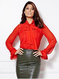 eva-mendes-collection-luciana-bow-blouse-