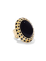 faux-onyx-cabochon-stretch-ring-