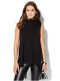 fringe-trim-sleeveless-sweater-