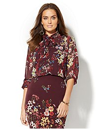 high-neck-chiffon-blouse-burgundy-floral-