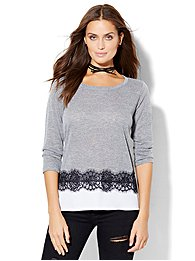 lace-trim-layered-pullover-
