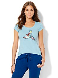 lounge-sequin-parrot-graphic-logo-tee-