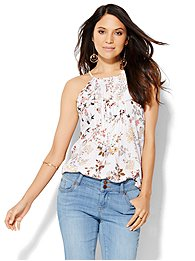 pleated-halter-blouse-floral-