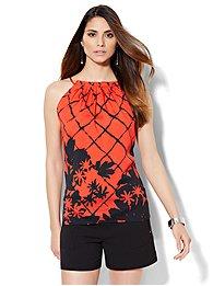 pleated-halter-blouse-print-