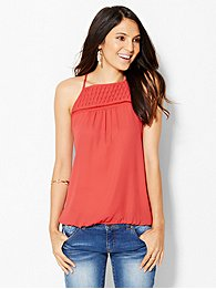 pleated-open-stitch-halter-blouse-