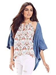 ruffle-trim-keyhole-halter-blouse-floral-