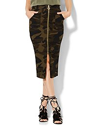 soho-jeans-zip-front-pencil-skirt-camouflage-print-