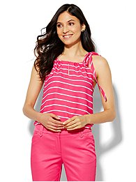 soho-soft-halter-blouse-tie-neck-stripe