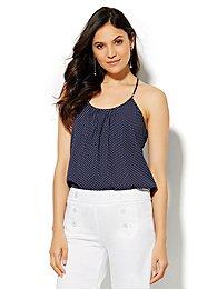 soho-soft-pleated-halter-blouse-polka-dot-print-