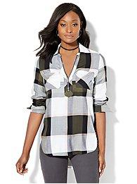 soho-soft-shirt-zip-front-plaid