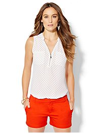 soho-soft-shirt-zip-front-polka-dot-